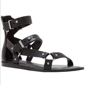 1.STATE Channdra Black Gladiator Buckle Sandals